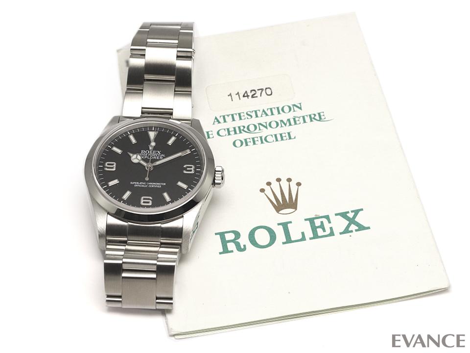ロレックス エクスプローラーⅠ(旧型) Ref.114270