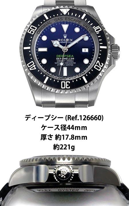 比較 ディープシー Ref.126660