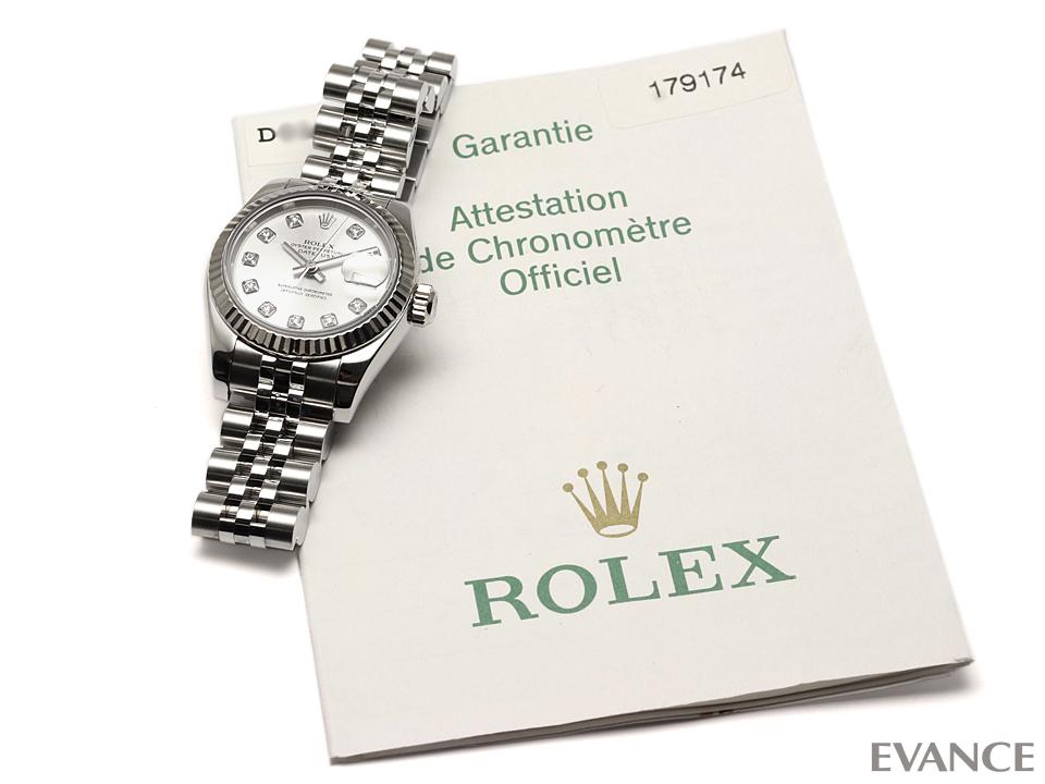 ROLEX ロレックス レディース デイトジャスト WGベゼル 179174G
