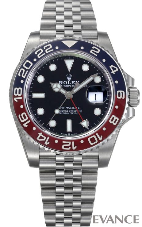ROLEX ロレックス GMTマスターII<保護シール付> 126710BLRO