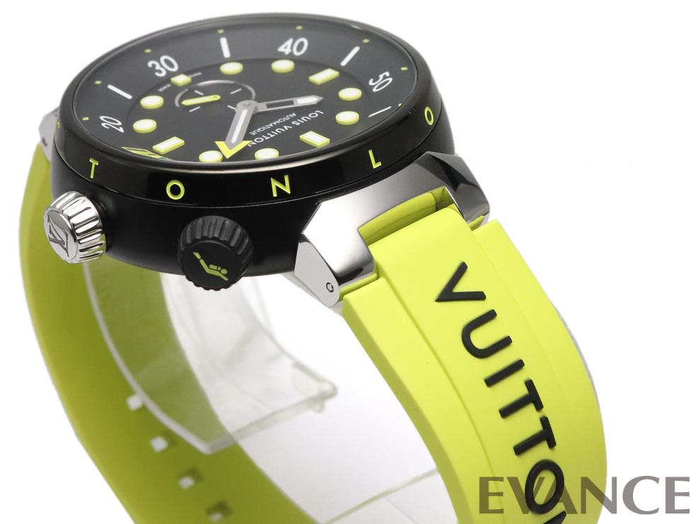 LOUIS VUITTON ルイ・ヴィトン タンブール オトマティック ストリート ダイバー ネオンブラック【2021年新作】 QA122Z