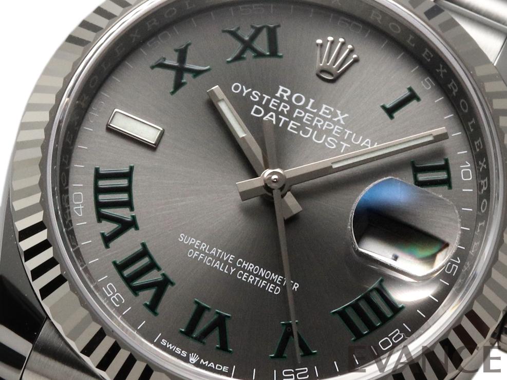 ROLEX ロレックス デイトジャスト36 WGベゼル【2021年新ダイヤル】 126234