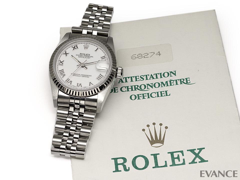 ROLEX ロレックス デイトジャスト WGベゼル 68274