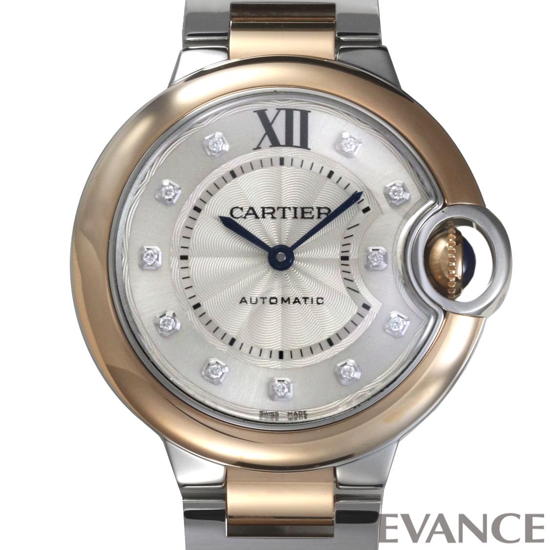 CARTIER カルティエ バロンブルーMM PGコンビ W3BB0006