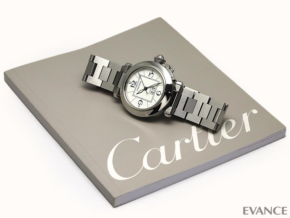 CARTIER カルティエ パシャ C ビッグデイト W31055M7