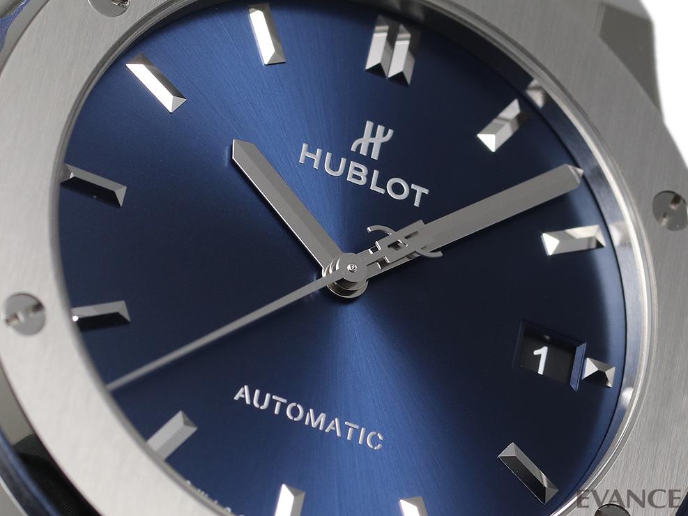 HUBLOT ウブロ クラシック フュージョンチタニウム ブルー 511.NX.7170.LR