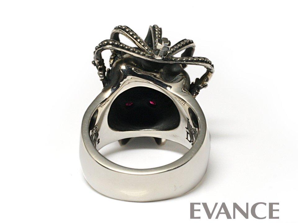 JUSTIN DAVIS ジャスティン デイビス [リング] ESSENTIAL SKULL Ring (ダイヤあり) SRJ155