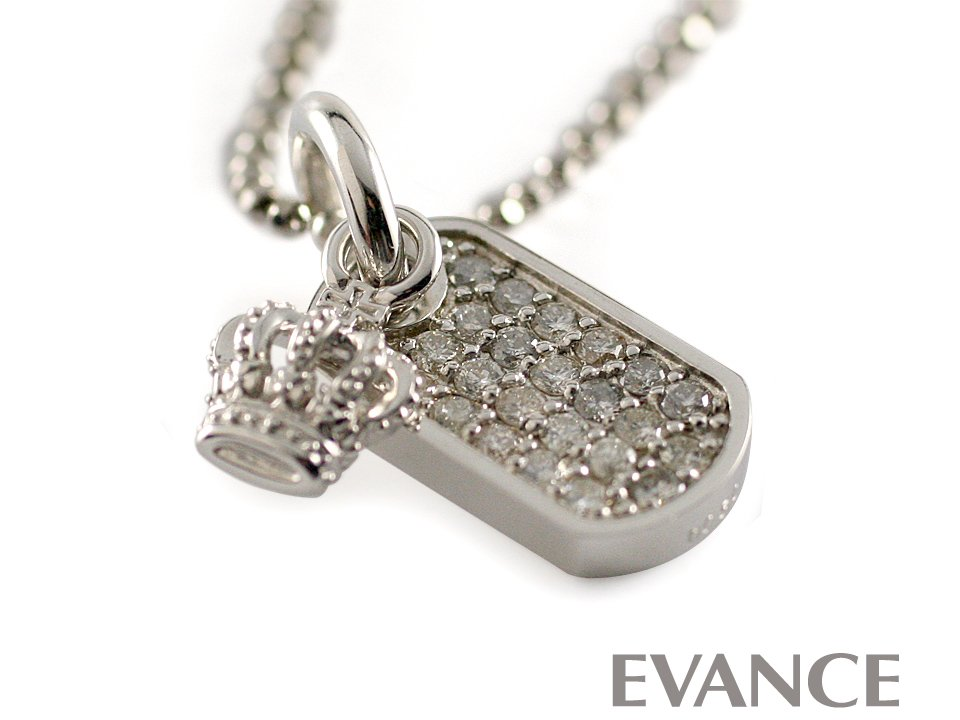 JUSTIN DAVIS ジャスティン デイビス [ネックレス] DIAMOND DOG TAG with CROWN Necklace SNJ162